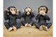 Hear No Evil, See No Evil And Speak No Evil Monkey Ornaments