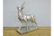 Stunning Antique Style Silver Stag Ornament, Antique Style Silver Stag