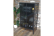 Contemporary Black glass and metal display cabinet, glass display case