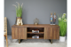 Contemporary Wood and gold TV Stand, Contemporary Dark Wood TV cabinet