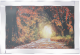 Autumn woodland with glitter detail in mirrored frame, glitter art 100x60