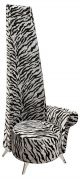 Silver tiger print high back potenza chair