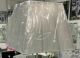 Silver ribbed lamp shade for floor lamp