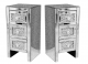 x2 Mirrored and Crushed Crystal Sparkle Pair Of Bedside Drawers, Glitz Sparkle