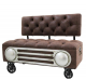 Stunning Retro occasional 102cm wide chair, Retro car style chair on wheels