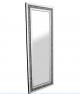 Luxury 180x70 crushed diamond wall mirror, Large Glitz sparkle wall mirror