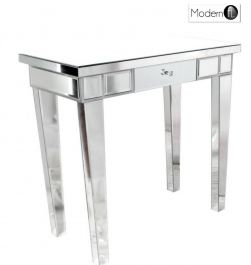 Venetian Mirrored One Drawer Console Table Modernfl
