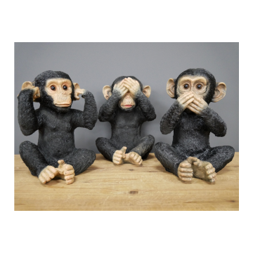 Hear No Evil, See No Evil And Speak No Evil Monkey Ornaments