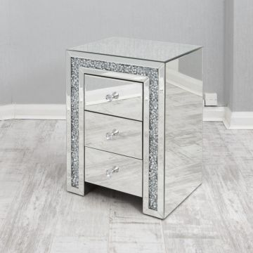 2 crushed crystal bedside drawers