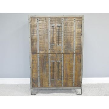 Industrial style 4 door cabinet sidebaord