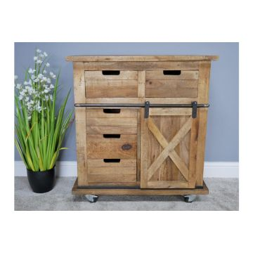 INDUSTRIAL STYLE RUSTIC WOODEN SIDEBOARD