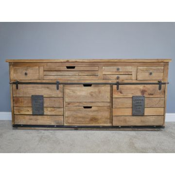 INDUSTRIAL STYLE WOODEN LARGE SIDEBOARD