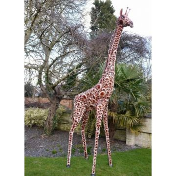 Extra large Giraffe garden ornament, safari giraffe large outdoor statue
