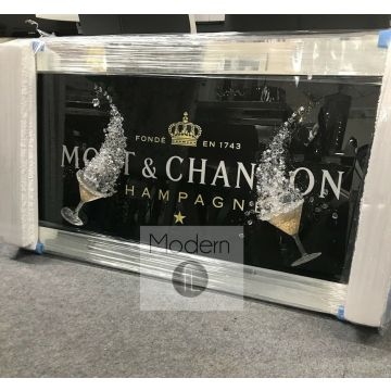 Black OR White Moet Chandon picture with 3D Glasses and Sparkle Detail