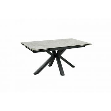 AMARI GREY EXTENDABLE DINGING TABLE, CERAMIC MARBLE TOP