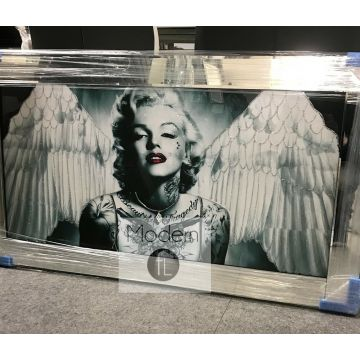 Marilyn Monroe Angel wings picture on mirrored frame