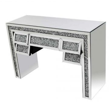 Crushed Crystal Angled Dressing Table