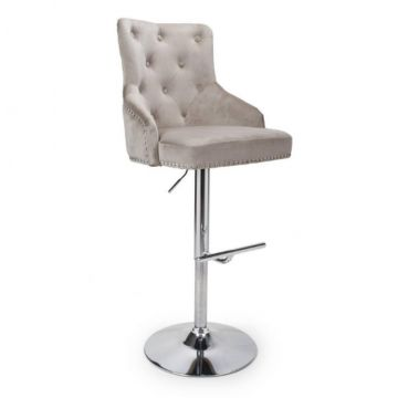 Brushed Velvet Mink Bar Stool