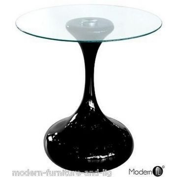 Black high gloss end table