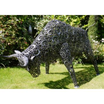 Large Garden Bull Ornament