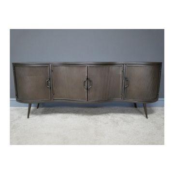 Rustic metal industrial style large sideboard, rustic furniture