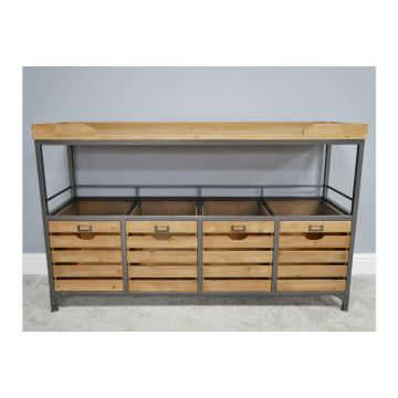 Industrial style storage cabinet, Large storage sideboard