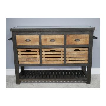 Industrial style wood storage cabinet, Large storage cabinet
