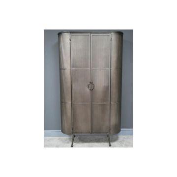 Rustic metal industrial style tall sideboard, rustic furniture