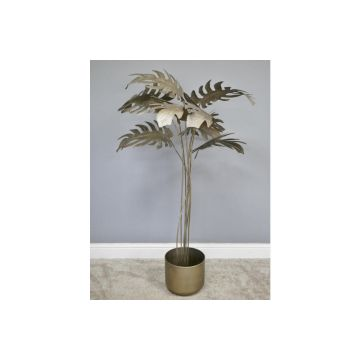 Rustic Finish Metal Plant, Indoor Garden Ornament Feature