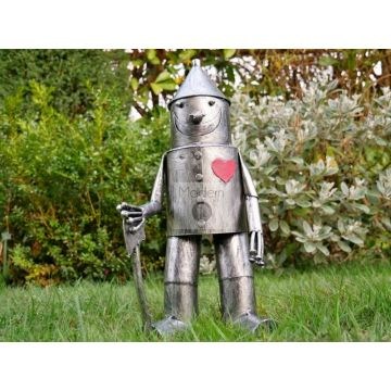 SMALL TIN MAN WIZARD OF OZ GARDEN ORNAMENT 41 cm HIGH