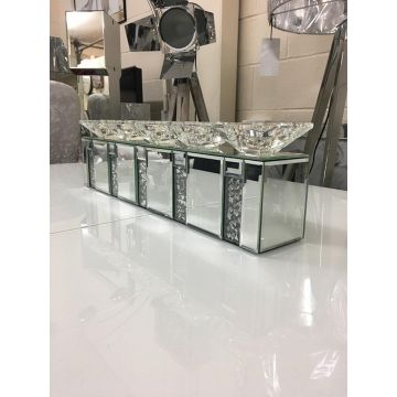 Large mirror crush crystal 5 candle holder centre piece