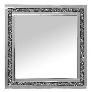 Crushed crystal wall mirror 60x60