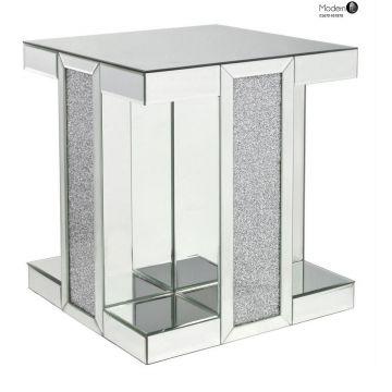 Crushed diamond and mirrored luxury pedestal
