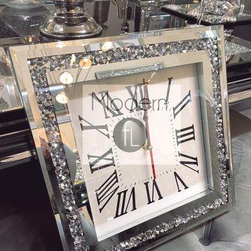 Small Crushed diamond glitz sparkle wall clock