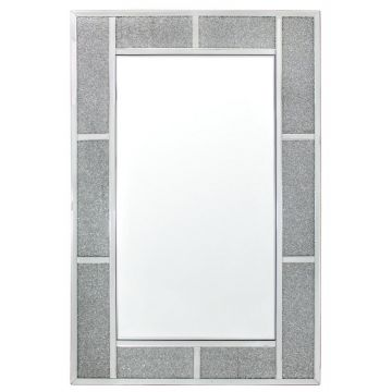 Crushed diamond  large wall mirror
