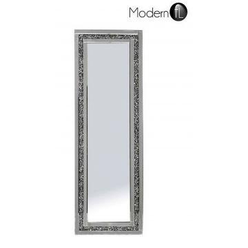 Crushed diamond sparkle wall mirror 40x120