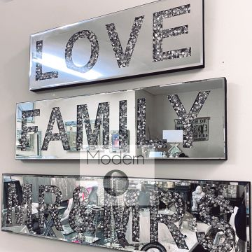 Diamond crush mirror MR & MRS sign, Mr and Mrs glitz sparkle wall plaque