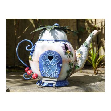 Magical Garden Fairy Teapot House Ornament