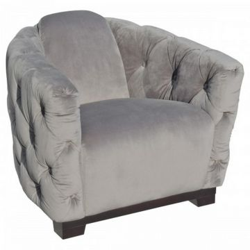 New Deep Button Grey Club Chair