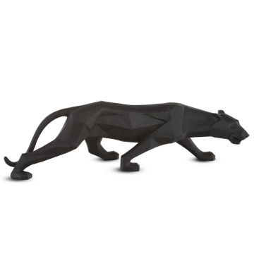 Large Abstract matt black Leopard ornament