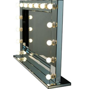 Hollywood Free Standing 15 Bulb Mirror