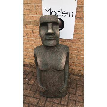 Easter Island man garden statue