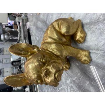 Gold French Bulldog resin ornament