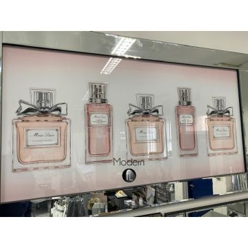 EXTRA Large Pink Perfume 3D Picture with mirrored frame