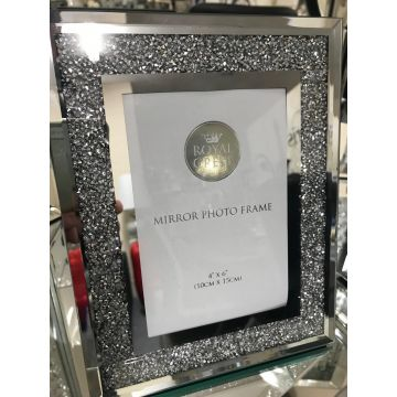 Crushed diamond 6x4 photo frame