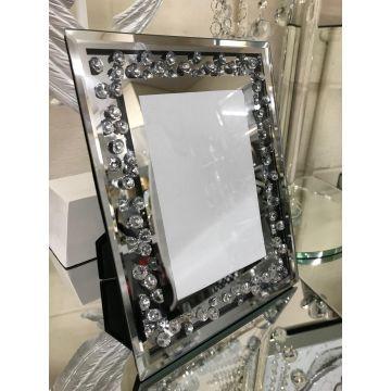 Floating crystal 6x4 photo frame