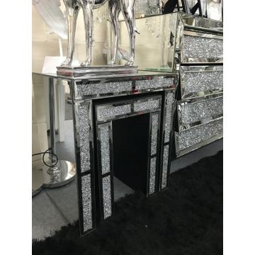 Crushed diamond mirrored nest of 2 tables