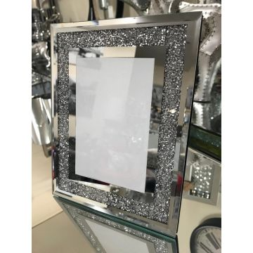 Crushed diamond 6x4 picture frame
