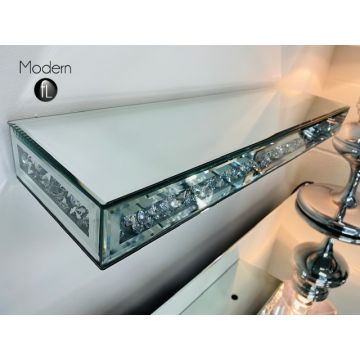 Exclusive: Crushed diamond floating wall shelf 60cm wide