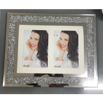 2 Aperture 6x4 crushed diamond photo frame